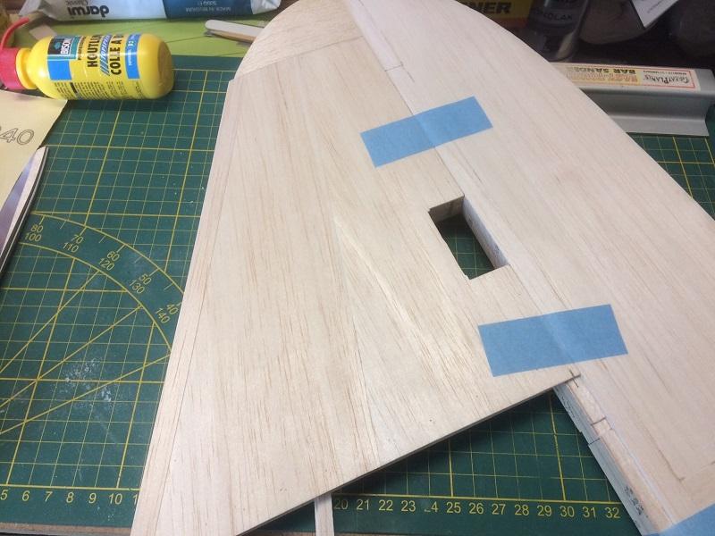 157 finished rudder now sanding flush with vert stab.jpg