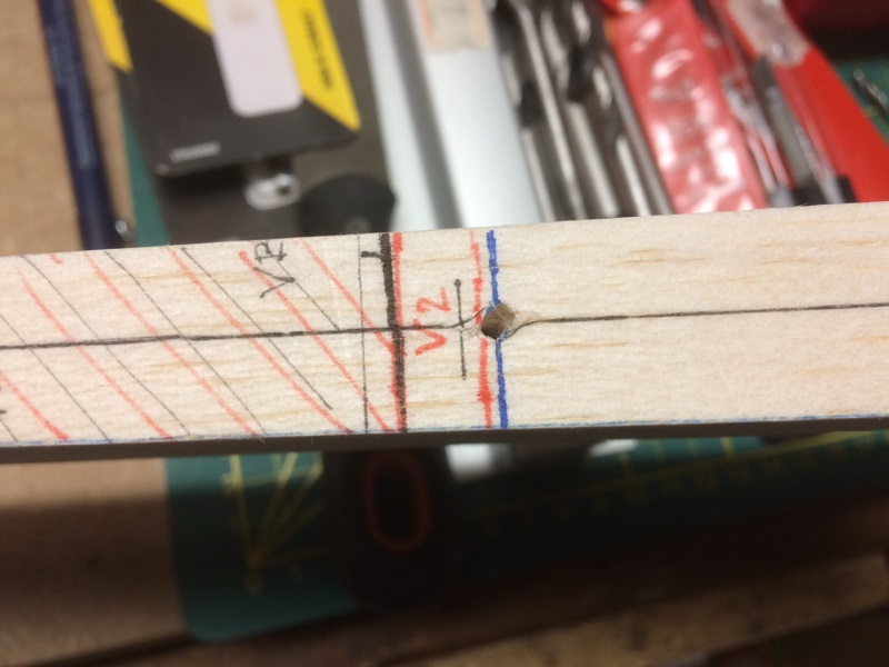 161centered drill hole on rudder.jpg