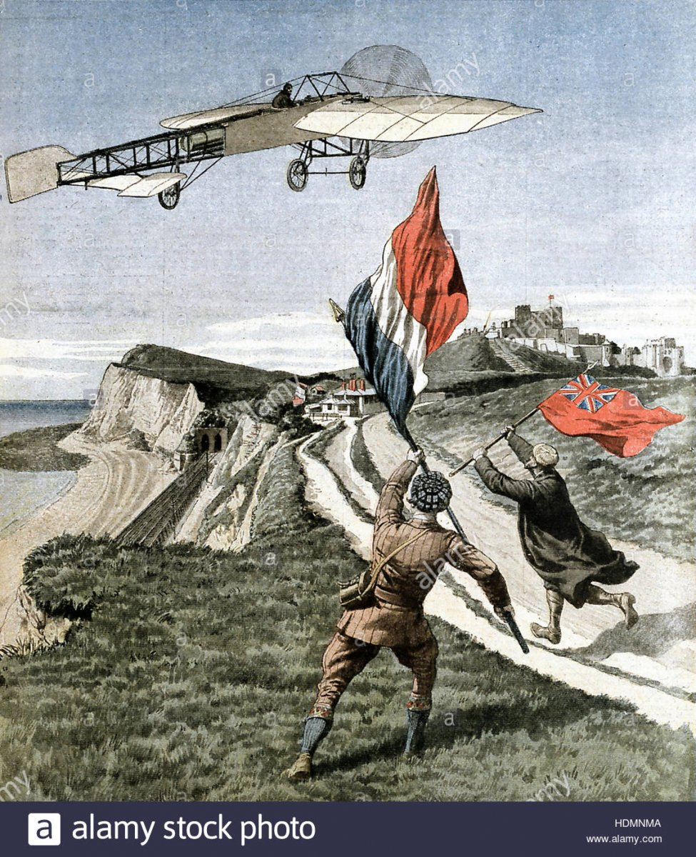 le-petit-journal-louis-bleriot-french-aviator-flying-over-the-cliffs-HDMNMA.jpg